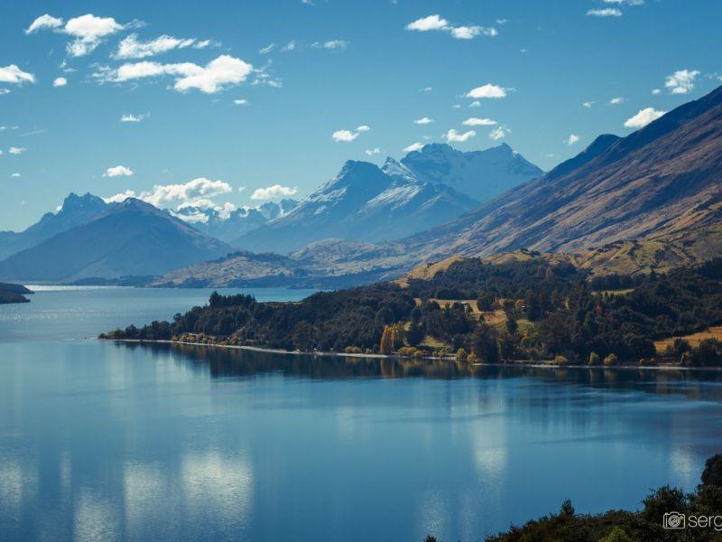 Paisaje montañas New Zealand