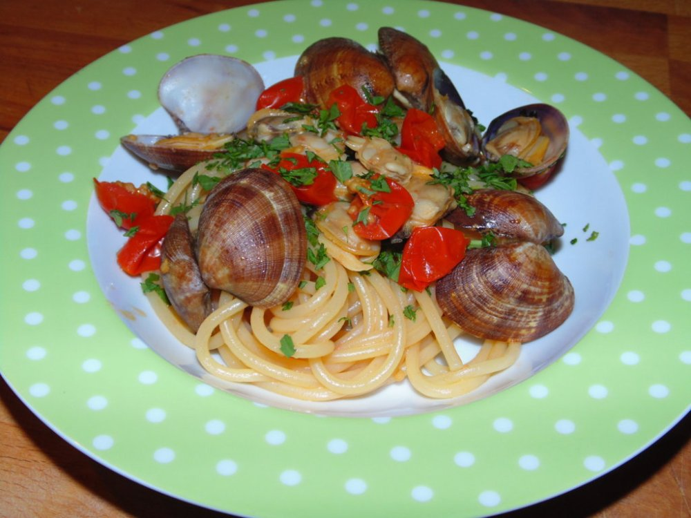 Spaghetti Vongole e Rucola