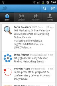 Captura nuevo Twitter móvil