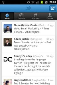 Captura Twitter móvil