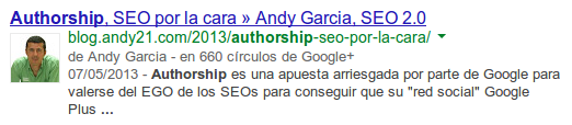 Snippet con fecha - Authorship y meta description