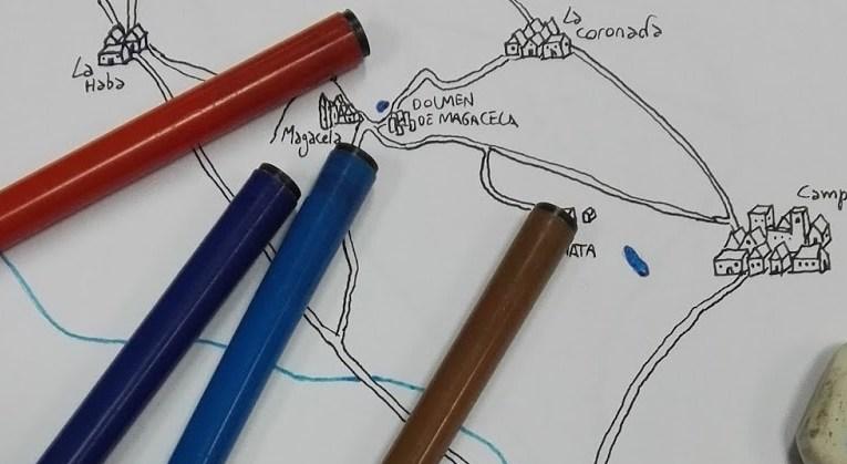 Mapeando El secreto de Zalamea: cómo se hizo el mapa de la ruta