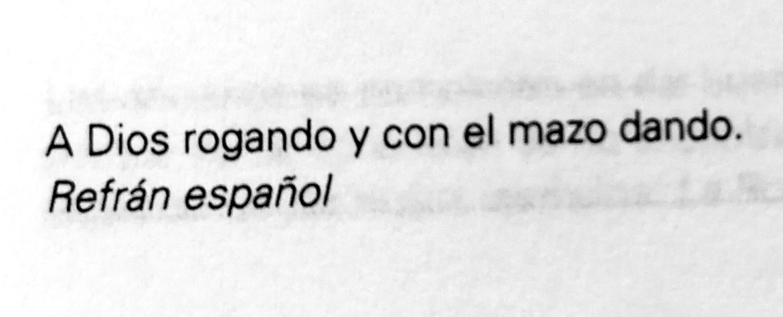 Frase de refrán español