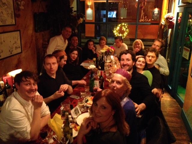Poldark Cast and Crew at Sergio's