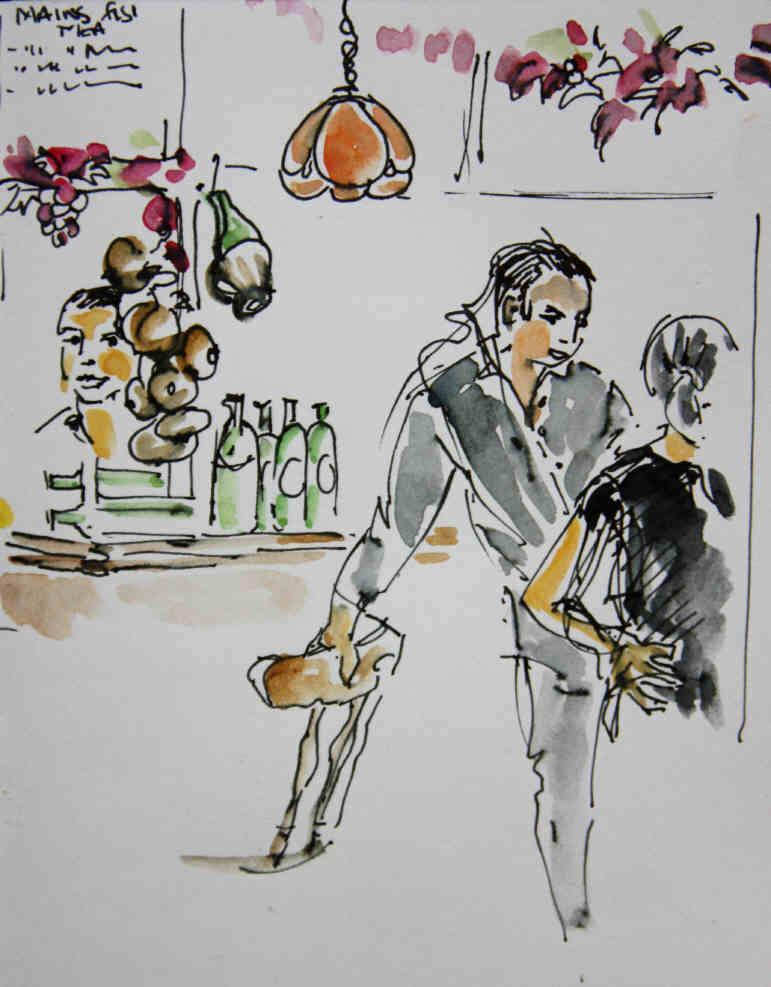 Sergio's Restaurant Artwork By Beverley Fry