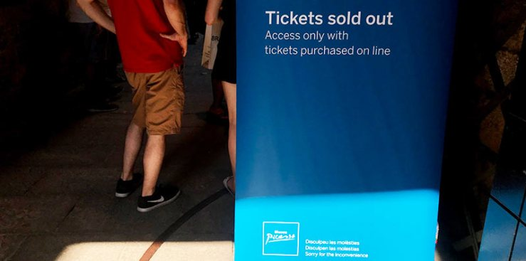 Entradas gratis agotadas en el Museo Picasso