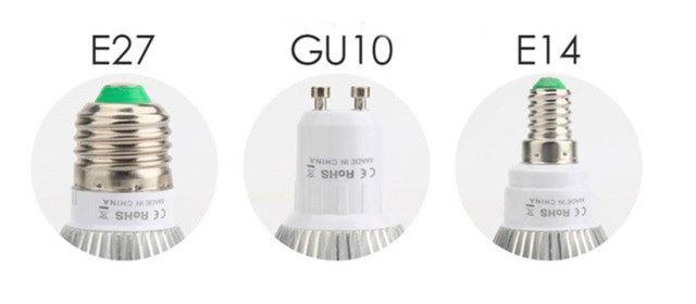 Rosca de bombilla E27, E14 y GU10