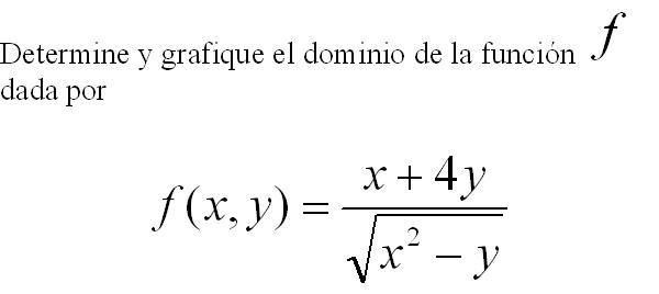 DOMINIOS DE FUNCIONES DE DOS VARIABLES (3/5)