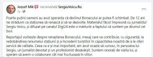 JOZSEF MIK primar borsec testimonial