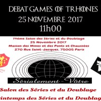 14éme Salon des séries et du doublage  Games of thrones 2017