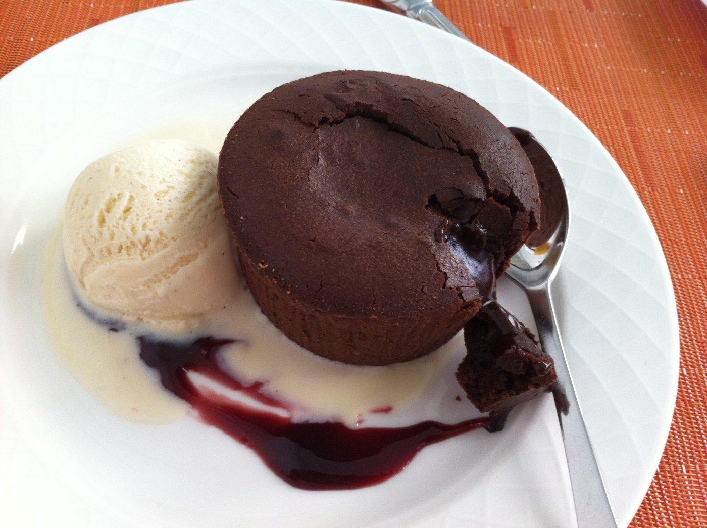 Fondant au chocolat du Sofitel Abidjan Hôtel Ivoire