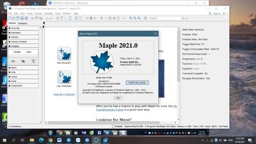 Maplesoft Maple 2021