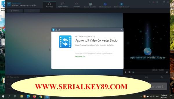 Apowersoft Video Converter Studio 4.8.6.4