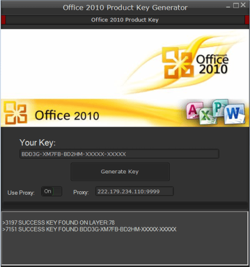 office 2010 key
