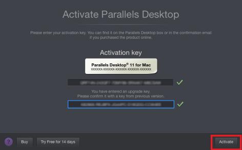 Parallels Desktop 11 Activation Key