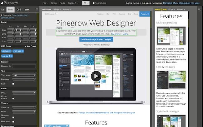 Pinegrow Web Editor 6.1.1 Crack + Serial Key Final Download