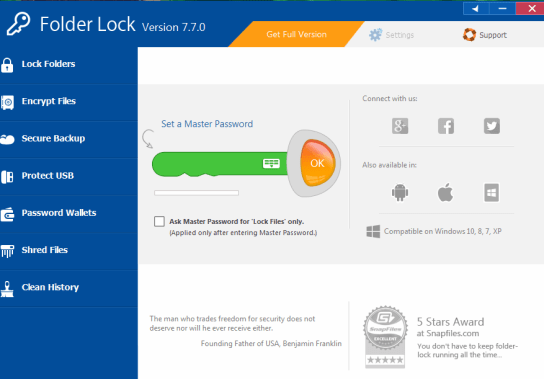 Folder Lock 7.8.0 Crack + Registration Key 2020