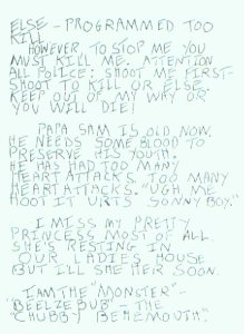 Son Of Sam Letter page 2