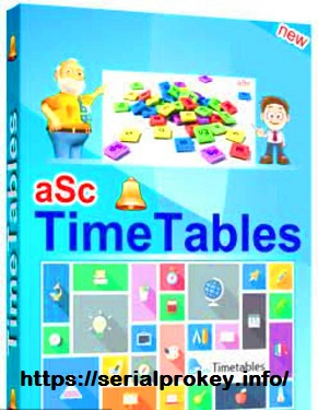 ASC TimeTables 2020.9.1 Crack Plus Registration Code