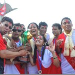 Comedy artists football match with hotel entrepreneurs in Pokhara