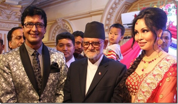 sushil koirala with rajesh hamal and madhu bhattarai