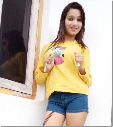 archana paneru in shorts