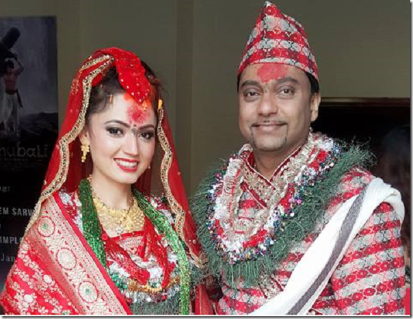 Image result for simpal khanal with husband