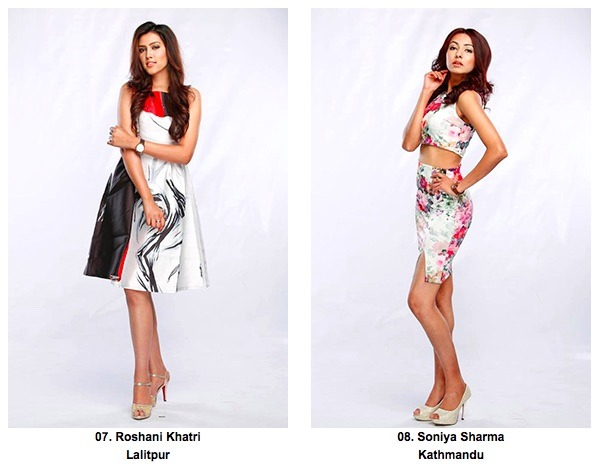 7 8 Roshani Khatri and Soniya Sharma miss nepal