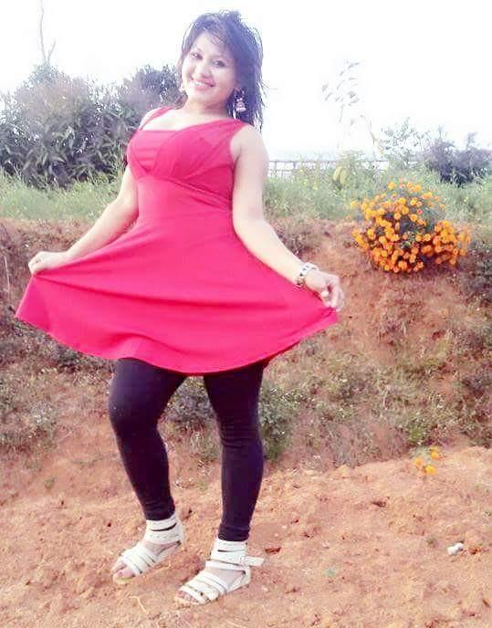 tirsana budhathoki teej red skirt