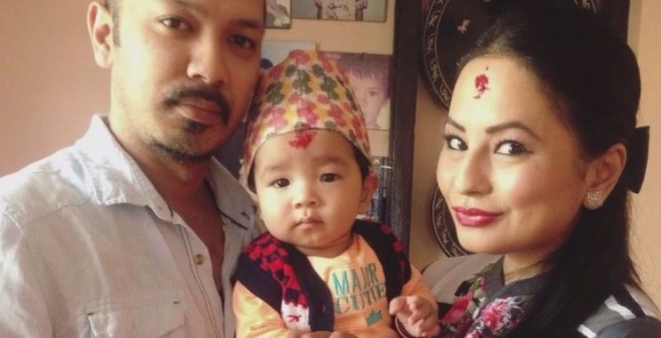 Miss Nepal sons' first Dashain, Malvika Subba and Jharana Bajracharya son celebrate Dashain