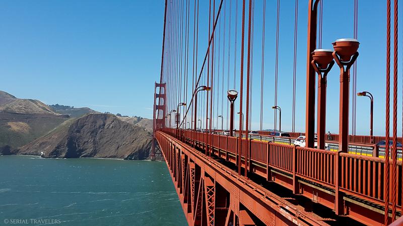 Traversée du Golden Gate Bridge en vélo jusqu'à Sausalito