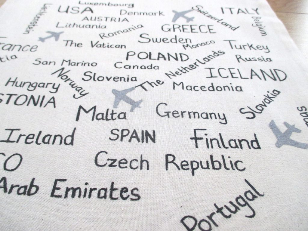 close up of countries