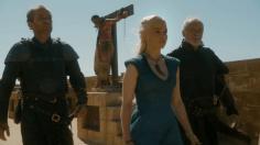 Jorah Mormont, Khaleesi y Barristan Selmy