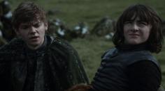 Amigos del alma: Jojen Reed y Bran Stark