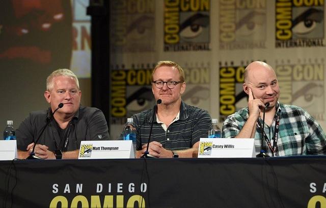 Os produtores de Archer Adam Reed, Matt Thompson e Casey Willis na Comic-Con 2016