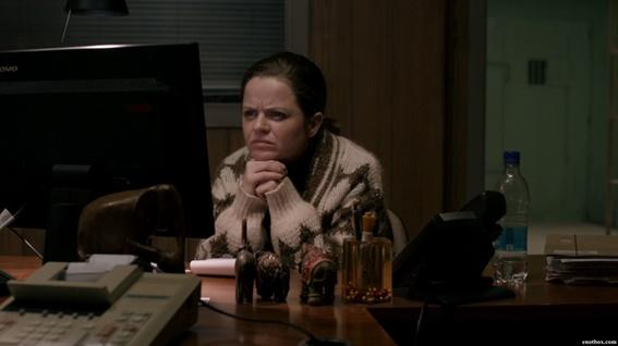 Em cena: a atriz Ilmur Kristjánsdóttir, que interpreta a policial Hinrika, uma das melhores coisas sobre a série.