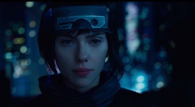Scarlett Johansson como a Major em Ghost In The Shell