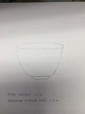 Japanese Tea Bowl Sketch