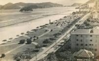 A praia do Gonzaga, em postal de fins da década de 30