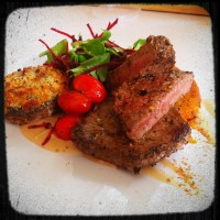 Beef medallions with a peppercorn sauce