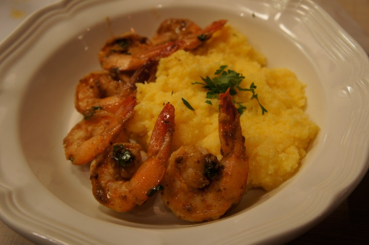 Lemon-Garlic Shrimp and Creamy Polenta