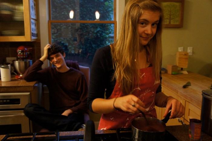 Carmelle makes enchilada sauce