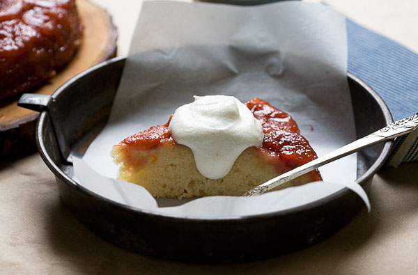 Sour Plum Upside Down Cake from A Cozy Kitchen // Serious Crust by Annie Fassler
