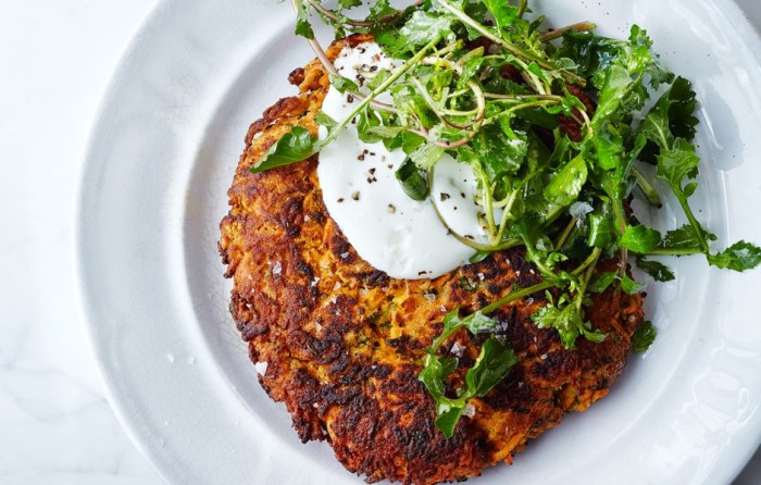 Carrot Pancakes from Bon Appetit // Weekend Finds on Serious Crust
