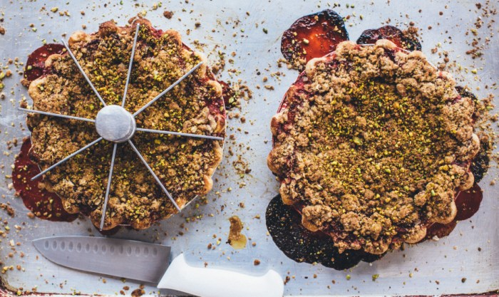 Strawberry Pistachio Crumble Pie from Bon Appetit