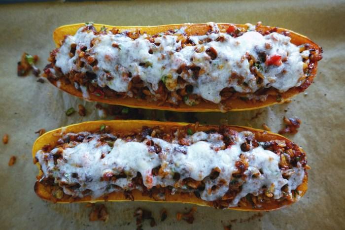 Farro Stuffed Delicata Squash | Serious Crust by Annie Fassler