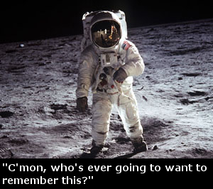 Photo taken by Neil Armstrong.