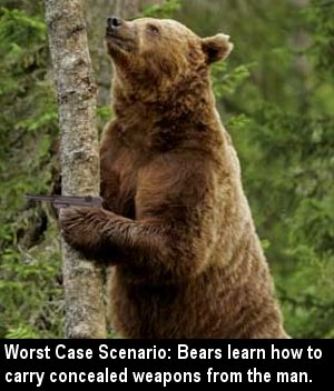 That was the potential bear whisperer's previous offense.