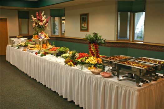 Classy orgy buffets have a lot of pineapple to improve the flavor and smell of all the semen.