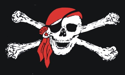 "Crossbones Pete says, ""Don't be fergettin' th' reason fer the season, mateys! Talk like a pirate!"""